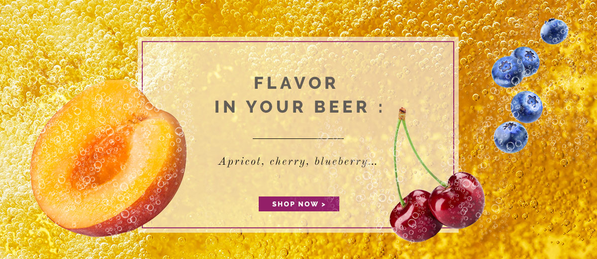 Flavor in your beer : Apricot, cherry, blueberry... Néroliane
